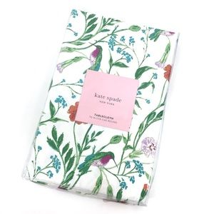 Kate Spade Hummingbird Floral Round Tablecloth